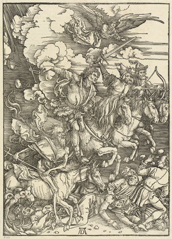 The Four Horsemen, from The Apocalypse, 1498