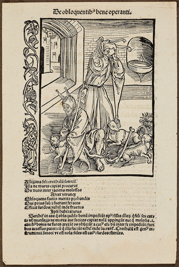 Leaf from the book Navis Stultifera (Ship of Fools), 1507