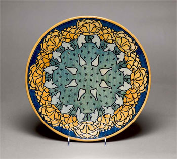 Plate with a Design of Cactus Flowers, ca. 1904
